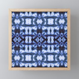 Blue Oxford Shibori Framed Mini Art Print