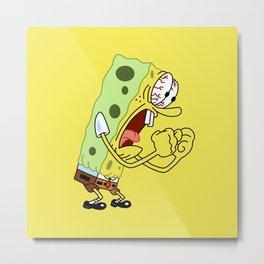 Angry Spongebob Metal Print