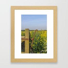 Farm gate latch Framed Art Print