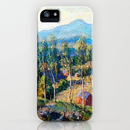 Ernest Lawson New England Birches iPhone Case