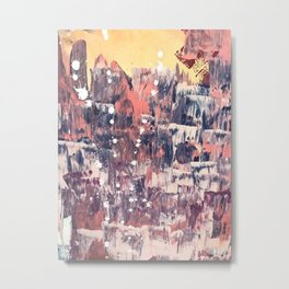 Mirage [2]: a vibrant abstract piece in pinks blues and gold by Alyssa Hamilton Art Metal Print