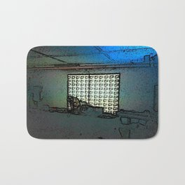 BLACK Electronic Underground #1 Bath Mat