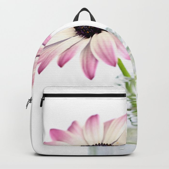 Delicate Single Pink Daisy Flower Backpack