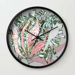 """""""Parrots & Floral Jungle"""" Wall Clock"""