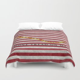 First Navy Jack flag of the USA, vintage Duvet Cover