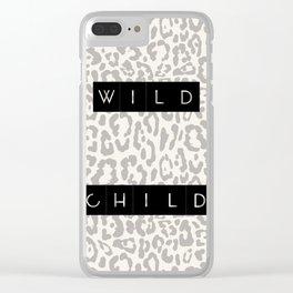 Wild Child (Black) Clear iPhone Case