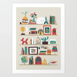 The shelf Art Print