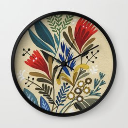 folkflower II Wall Clock