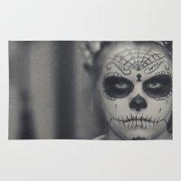 dia de los muertos Area & Throw Rugs featuring Dia de los muertos by Brandy Coleman Ford