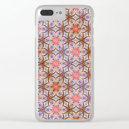 Pink Star Clear iPhone Case