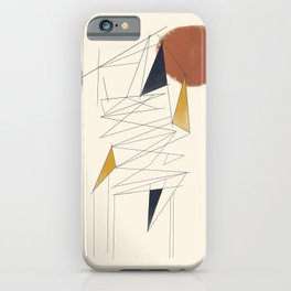 shapes and lines iPhone Case