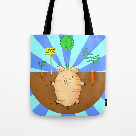Veggie bacon Tote Bag