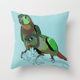 Mertie and Gertie Throw Pillow