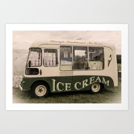 Scream For Vintage Ice Cream Art Print