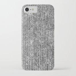 Stockinette Black iPhone Case