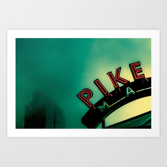 Pike Place Market at Dawn Kunstdrucke