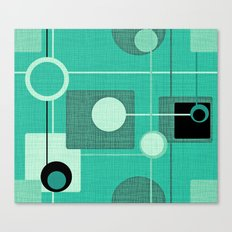 orbs and square emerald Canvas Print