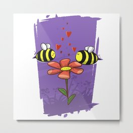 Bee Mine Valentine Metal Print