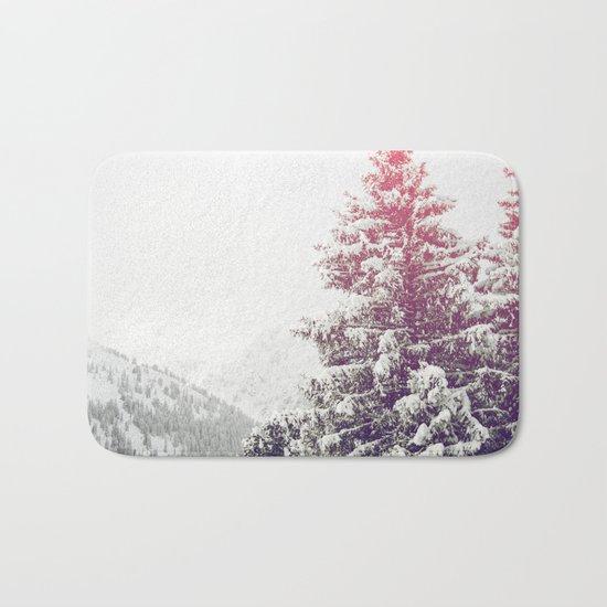 Snow on Trees Bath Mat