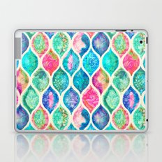 Watercolor Ogee Patchwork Pattern Laptop & iPad Skin