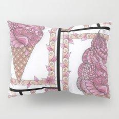 Strawberry Ice Cream Cone Collage Pillow Sham