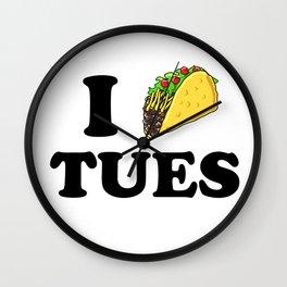 I taco tuesday Wall Clock