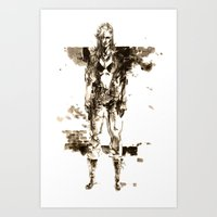 metal gear solid Art Prints featuring Metal Gear Solid wolf by Hisham Al Riyami