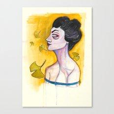 Ginkgo and Geisha Canvas Print