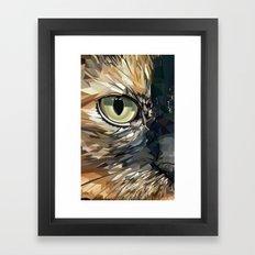 Stevie Cat Framed Art Print
