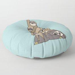 Christmas Tree  Sloths Floor Pillow