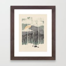Spring Mountain Weather Framed Art Print