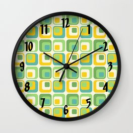 Colorful Nested Squares Pattern Wall Clock