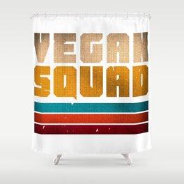 VEGAN SQUAD VINTAGE Shower Curtain