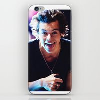 harry styles iPhone & iPod Skins featuring Harry Styles by harrystyless