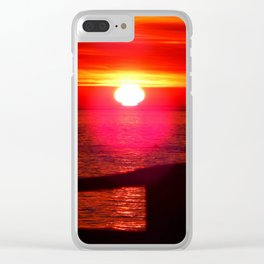 Sun Melts into the Sea Clear iPhone Case