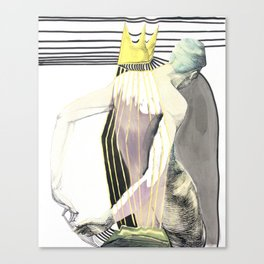 Head Missing Crown, Hands Missing Mountain  Canvas Print