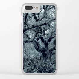 Blue grey Clear iPhone Case