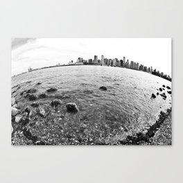 The Earth is round - Vancouver, BC  Canvas Print