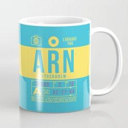 Baggage Tag B - ARN Stockholm Arlanda Sweden Coffee Mug
