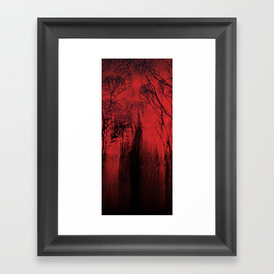Blood red sky Framed Art Print