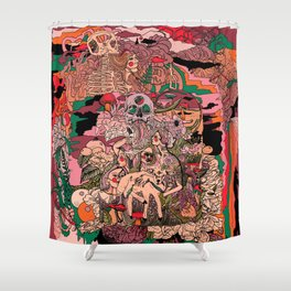Village of Forest Shower Curtain