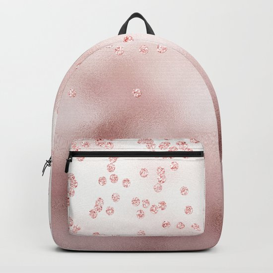 Princess Confetti Glitter on pink metal background #Society6 Backpack