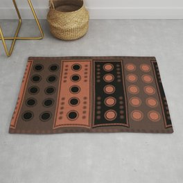 """Tribal Ethnic Rose-Terracotta Stars"" Rug"
