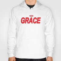 grace Hoodies featuring Grace by Mr.Tellmesomething