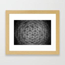 Aligning the Cube Framed Art Print