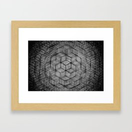 Aligning the Cube Framed Art Print