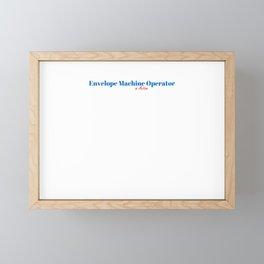 Happy Envelope Machine Operator Framed Mini Art Print