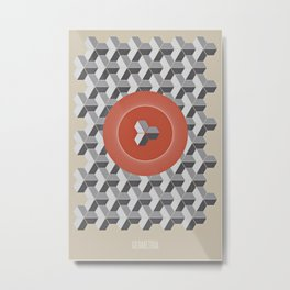 Geometria | Orange Metal Print