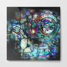 Gasoline Motorcycle Engine Metal Print