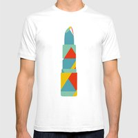 Lipstick Hues SMALL White Mens Fitted Tee
